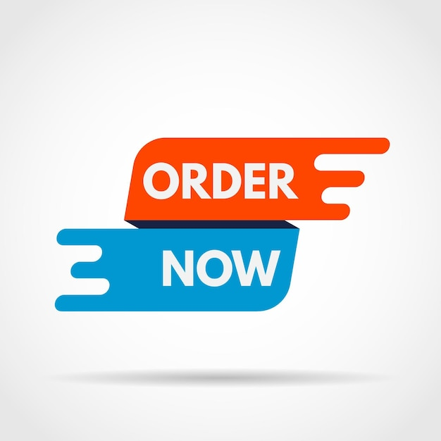 Zamów Teraz Baner Premium Wektorów