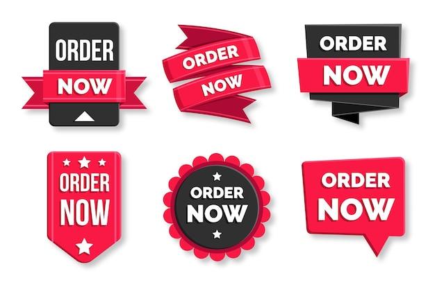 Zamów Teraz - Kolekcja Etykiet Premium Wektorów