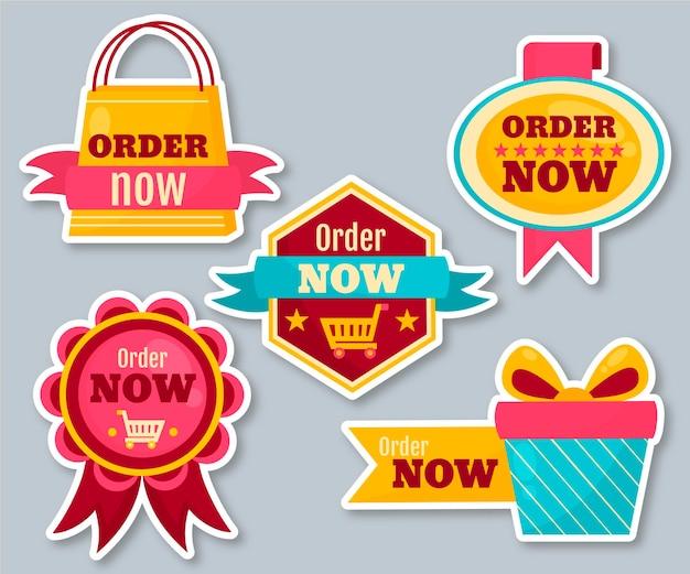 Zamów Teraz - Kolekcja Naklejek Darmowych Wektorów