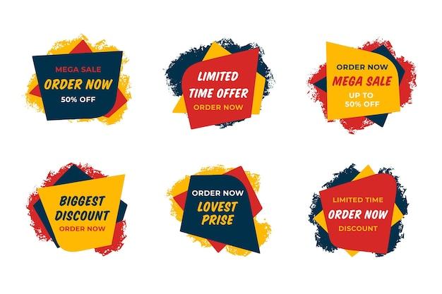 Zamów Teraz Kolekcję Naklejek Premium Wektorów