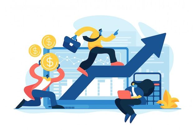Zapotrzebowanie Planowania Koncepcji Ilustracji Wektorowych Premium Wektorów