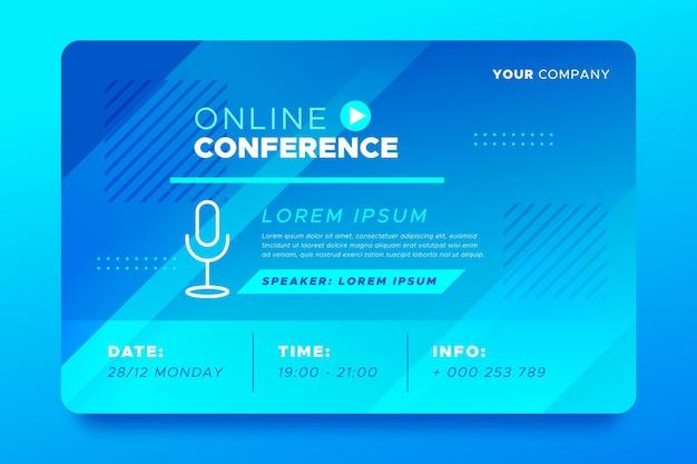 Zaproszenie Na Baner Na Seminarium Internetowe Premium Wektorów