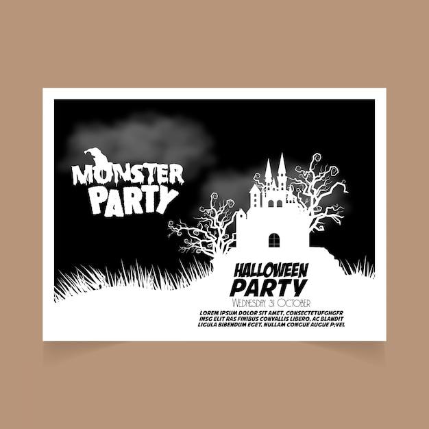 Zaproszenie Na Przyjęcie Halloween Wektor Darmowe Pobieranie