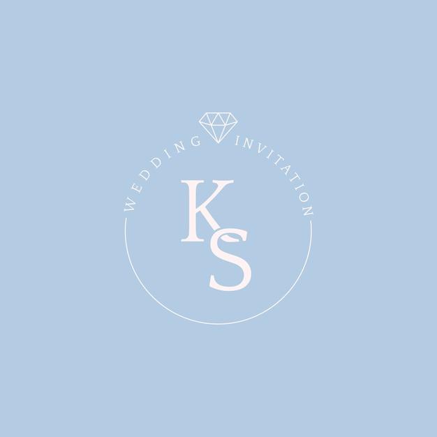 Zaproszenie ślubne odznaka projekt wektor Darmowych Wektorów