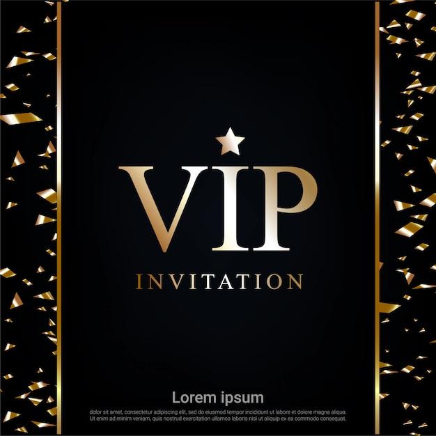 Zaproszenie Vip Z Tłem Wstążki Premium Wektorów