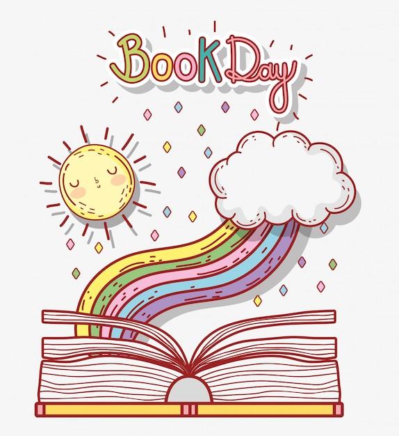 Zarezerwuj dzień literatury, aby się uczyć i uczyć Premium Wektorów