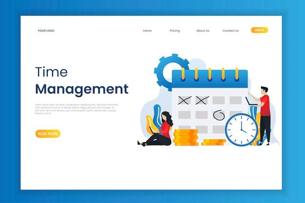 Zarządzanie czasem i planowanie biznesowe z charakterem Premium Wektorów