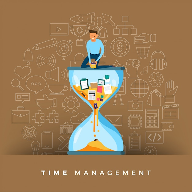 Zarządzanie Czasem Premium Wektorów