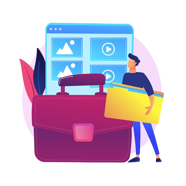 Zarządzanie Portfelem. Przykładowe Projekty, Katalog Prac, Prezentacja Umiejętności. Odnoszący Sukcesy Grafik, Twórca Stron Internetowych. Darmowych Wektorów