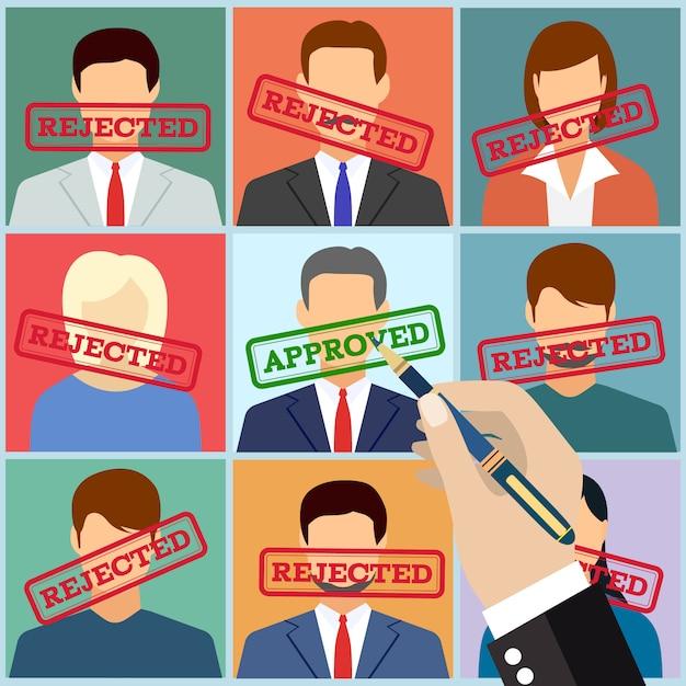 Zarządzanie Zasobami Ludzkimi Wybierz Pracownika Premium Wektorów