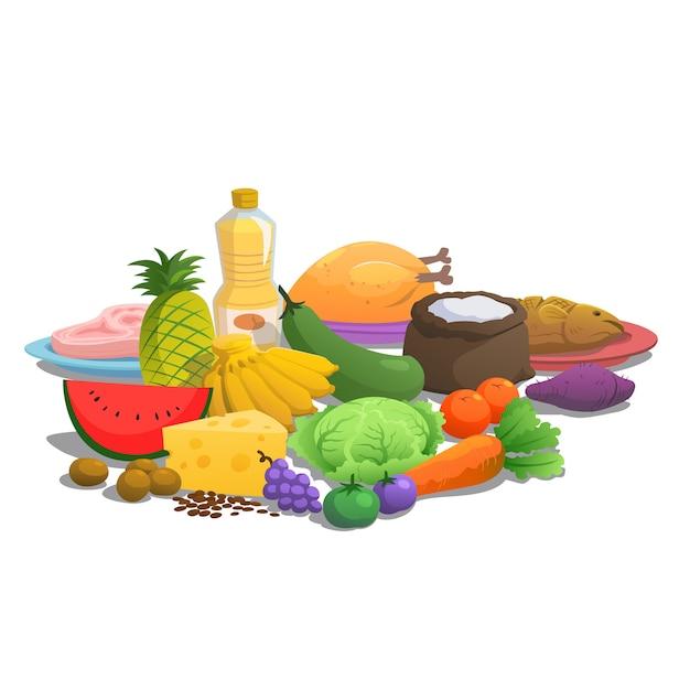 Zasady żywienia żywności Do Spożycia. Premium Wektorów