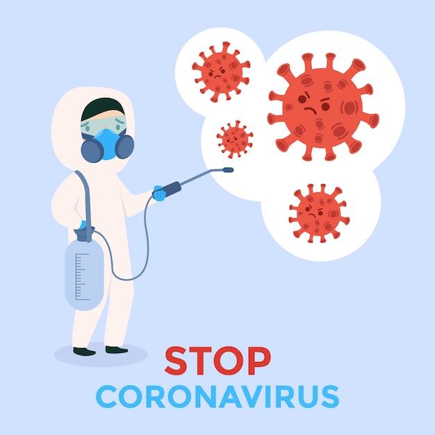 Zatrzymaj Koronawirusa Darmowych Wektorów
