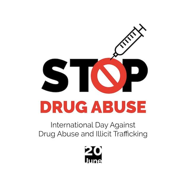 Zatrzymaj Plakat Nadużywania Narkotyków. Premium Wektorów