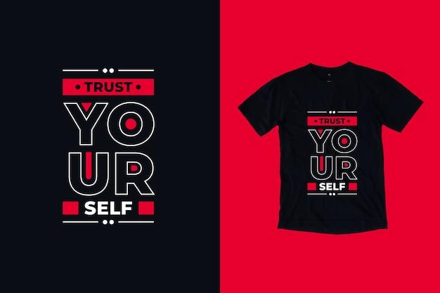 Zaufaj Sobie Cytuje Projekt Koszulki Premium Wektorów