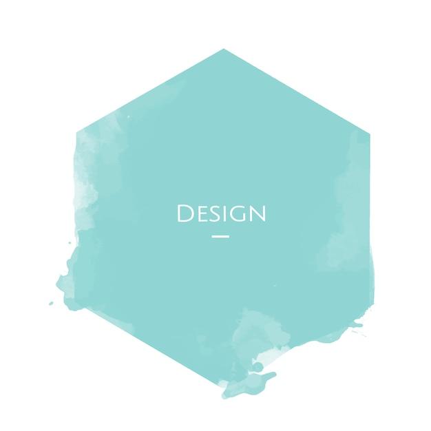 Zawiadomienie sześciokątna odznaka szablonu projekta ilustracja Darmowych Wektorów
