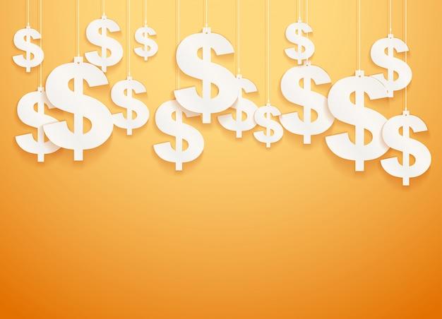 Zawieszone Symbole Dolar. Premium Wektorów