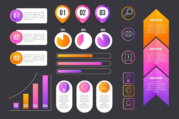 Zbieranie Informacji O Elemencie Infographic Darmowych Wektorów