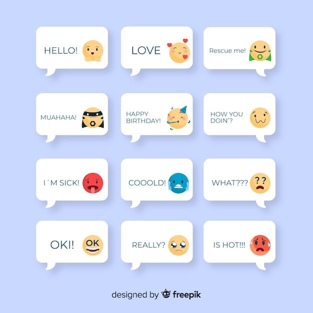 Zbieranie wiadomości za pomocą emoji Darmowych Wektorów