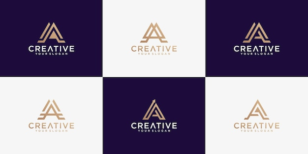 Zbiór Logo Litery A. Premium Wektorów
