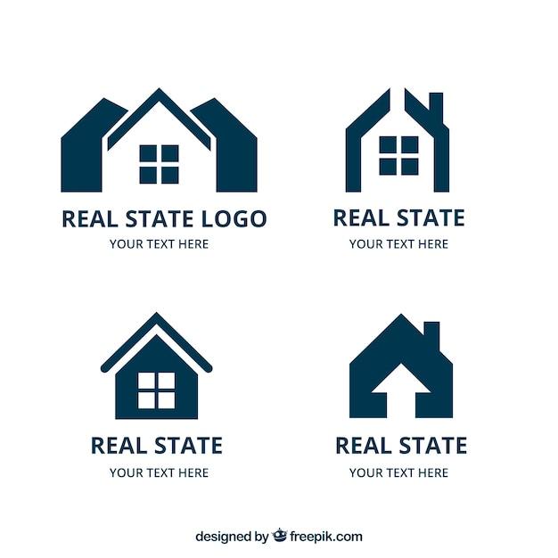 Zbiór logo nieruchomości Darmowych Wektorów