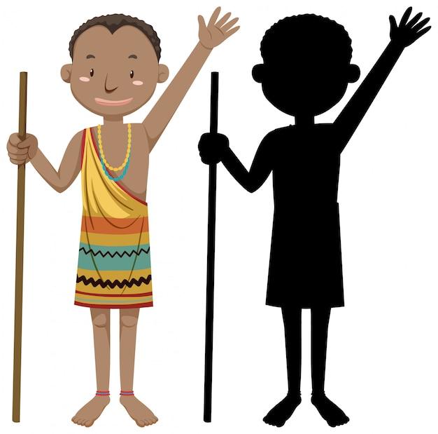 Zbiór Ludzi O Charakterze Plemion Afrykańskich Z Jego Sylwetka Darmowych Wektorów