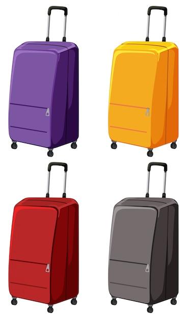 Zbiór różnych bagaży Darmowych Wektorów