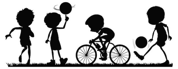Zbiór Sportowców Sylwetka Darmowych Wektorów