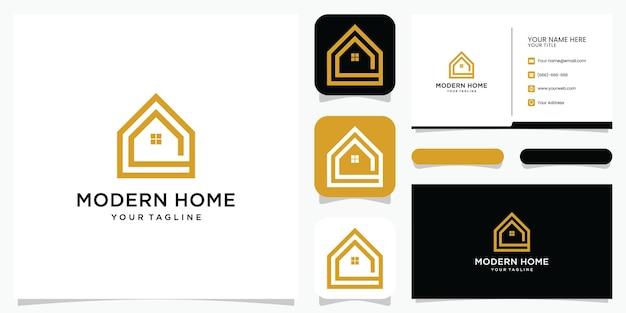 Zbuduj Logo Domu W Stylu Grafiki Liniowej. Streszczenie Budowy Domu Do Projektowania Logo I Wizytówek Premium Wektorów