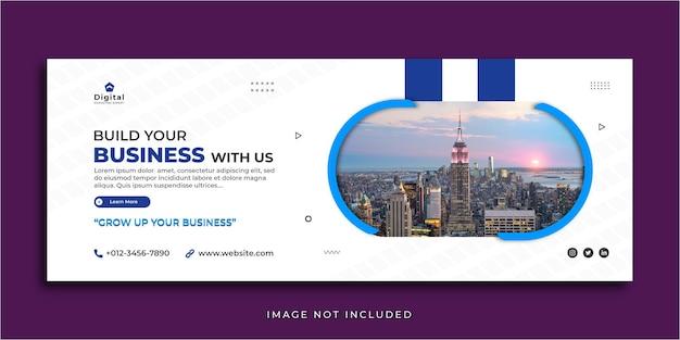 Zbuduj Swój Biznes Marketingowy Szablon Banera Na Facebooku Premium Wektorów