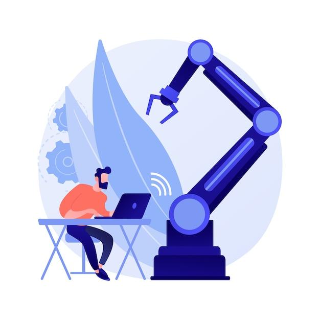 Zdalnie Sterowane Roboty Ilustracja Koncepcja Abstrakcyjna Darmowych Wektorów