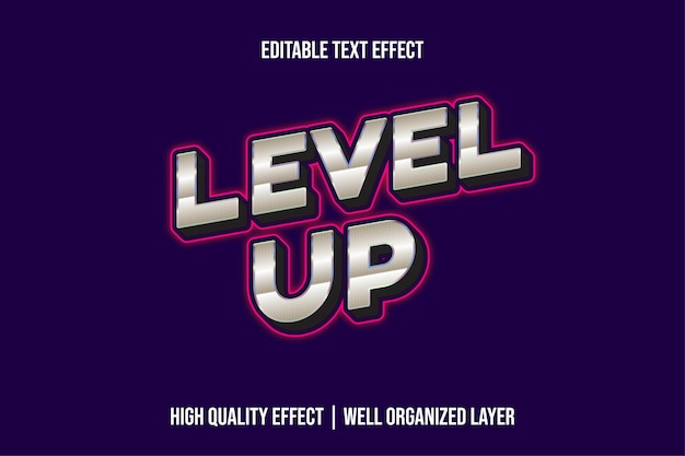Zdobądź Srebrny Poziom Z Różowymi Liniami Styl Efektu Tekstu Premium Wektorów