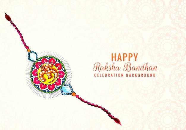 Zdobione Rakhi Na Indyjski Projekt Karty Raksha Bandhan Darmowych Wektorów