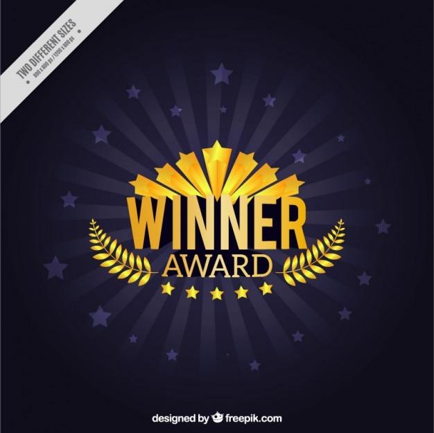 Zdobywca Nagrody Z Wieńcem Laurowym Tle Premium Wektorów