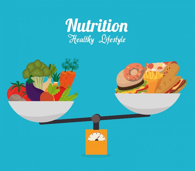 Zdrowe Jedzenie Premium Wektorów