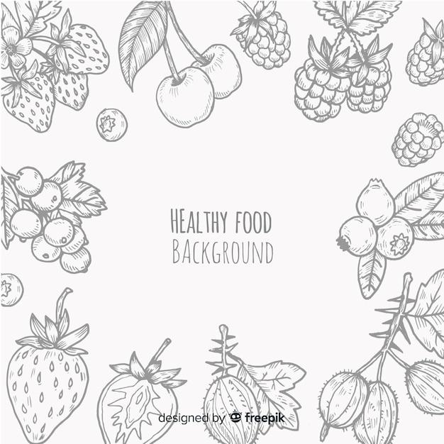 Zdrowe Tło żywności Premium Wektorów