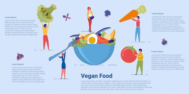 Zdrowe wegańskie jedzenie i organiczne menu wegetariańskie. Premium Wektorów