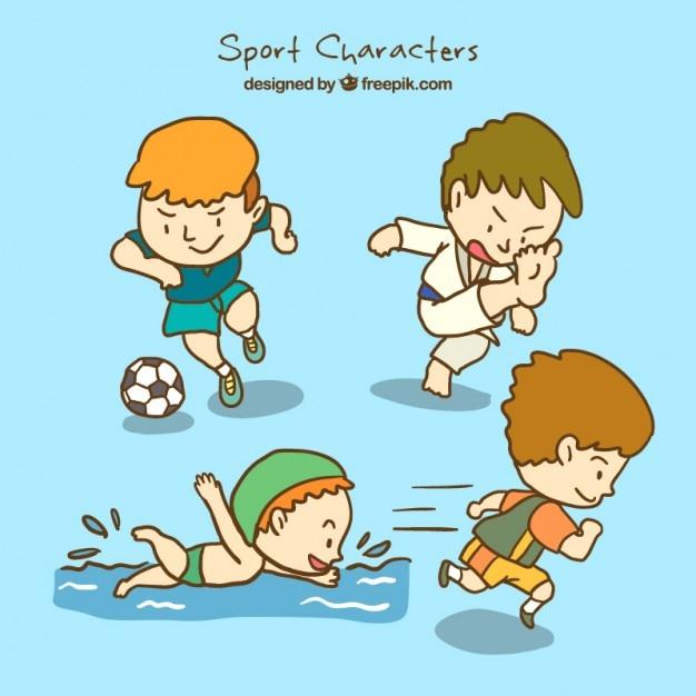 Zdrowe Znaków Sportowe Darmowych Wektorów