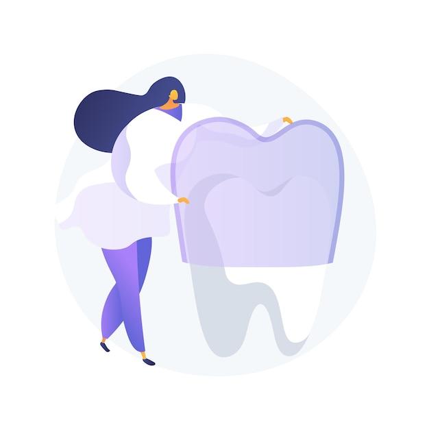 Zęby Noszą Silikonowe Trener Streszczenie Wektor Ilustracja Koncepcja. Niewidoczne Aparaty Ortodontyczne, Silikonowe Noszenie Zębów, Szkolenie Stomatologiczne, Opieka Stomatologiczna, Metoda Leczenia Zatłoczonych Zębów Abstrakcyjna Metafora. Darmowych Wektorów