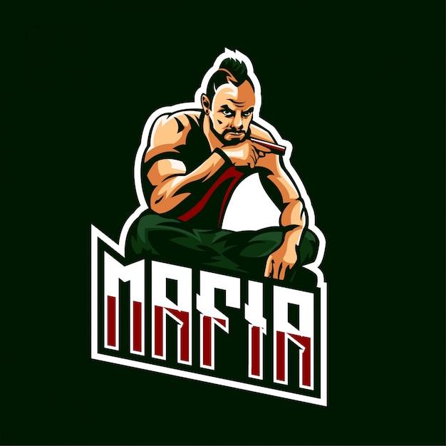 Zespół E-sportowy Mafia Logo Gaming Premium Wektorów