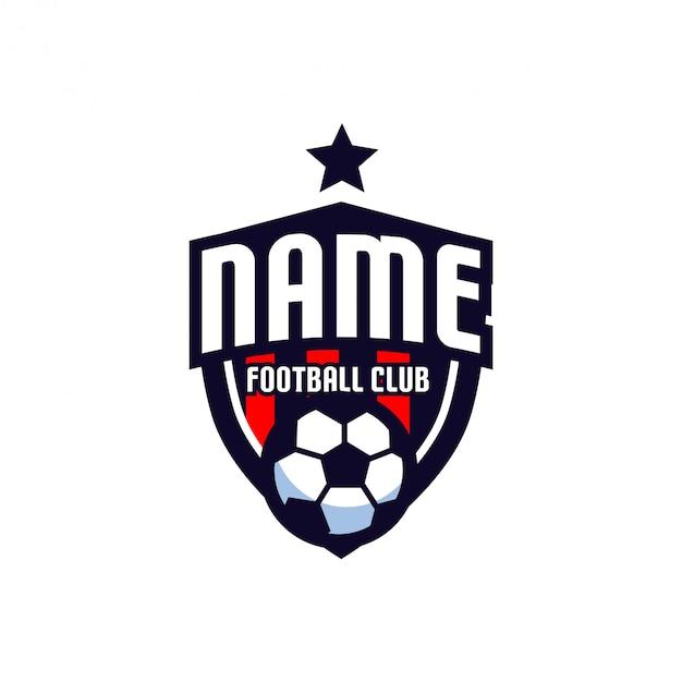 Zespół logo piłki nożnej Premium Wektorów