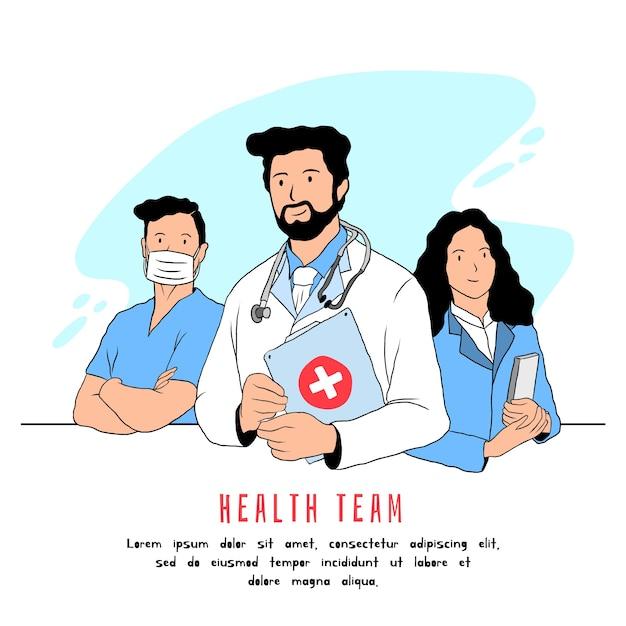 Zespół Pracowników Służby Zdrowia Darmowych Wektorów