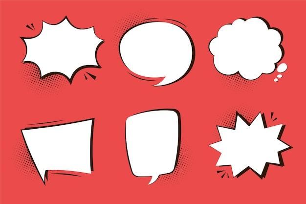 Zestaw Balonów Mowy W Stylu Papieru Darmowych Wektorów