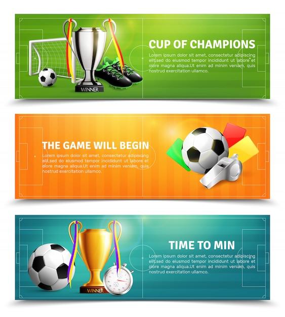 Zestaw Bannerów Piłki Nożnej Darmowych Wektorów