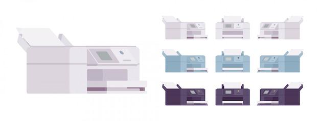 Zestaw Biurowej Drukarki Laserowej Premium Wektorów