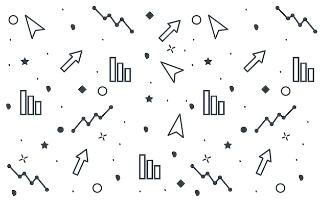 Zestaw Biznes Doodle Projekt Tekstura Premium Wektorów
