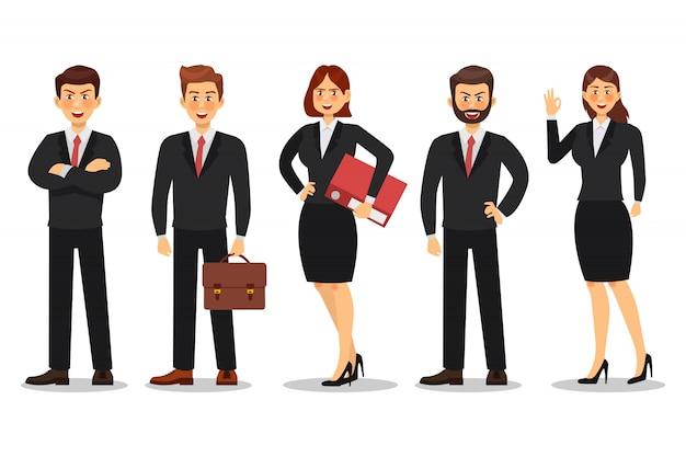 Zestaw biznesmen i interesu charakter projektu Premium Wektorów