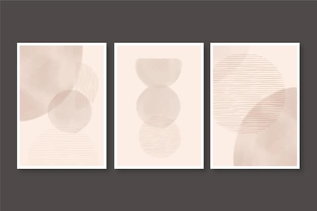 Zestaw Bladej Akwareli Abstrakcyjnych Okładek Darmowych Wektorów