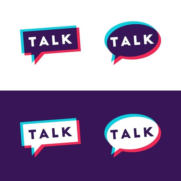 Zestaw Bulb Talk Premium Wektorów