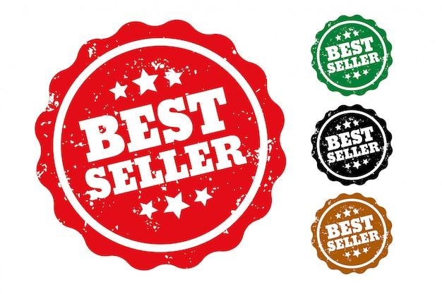 Zestaw Czterech Pieczątek Bestsellerów Darmowych Wektorów