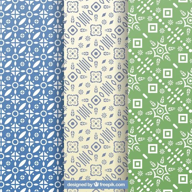 Zestaw Dekoracyjnych Wzorów Z Geometrycznych Kształtów Darmowych Wektorów